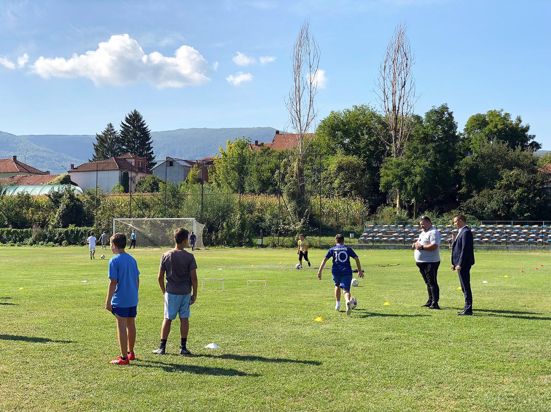 ŠF Aca Menta, predsednik posetio najmlađe fudbalere