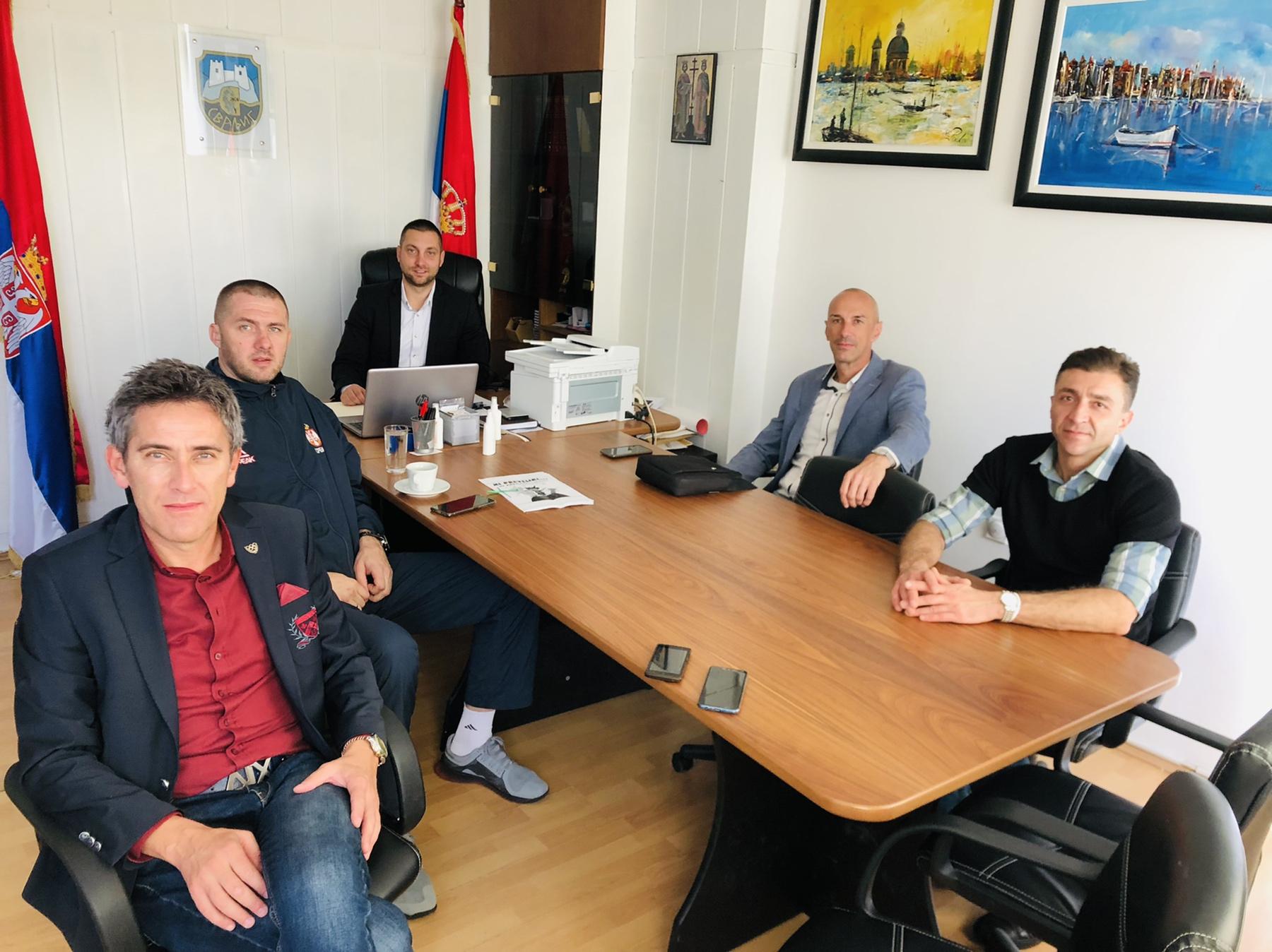 Sastanak u kancelariji predsednika opštine, foto: M.M.