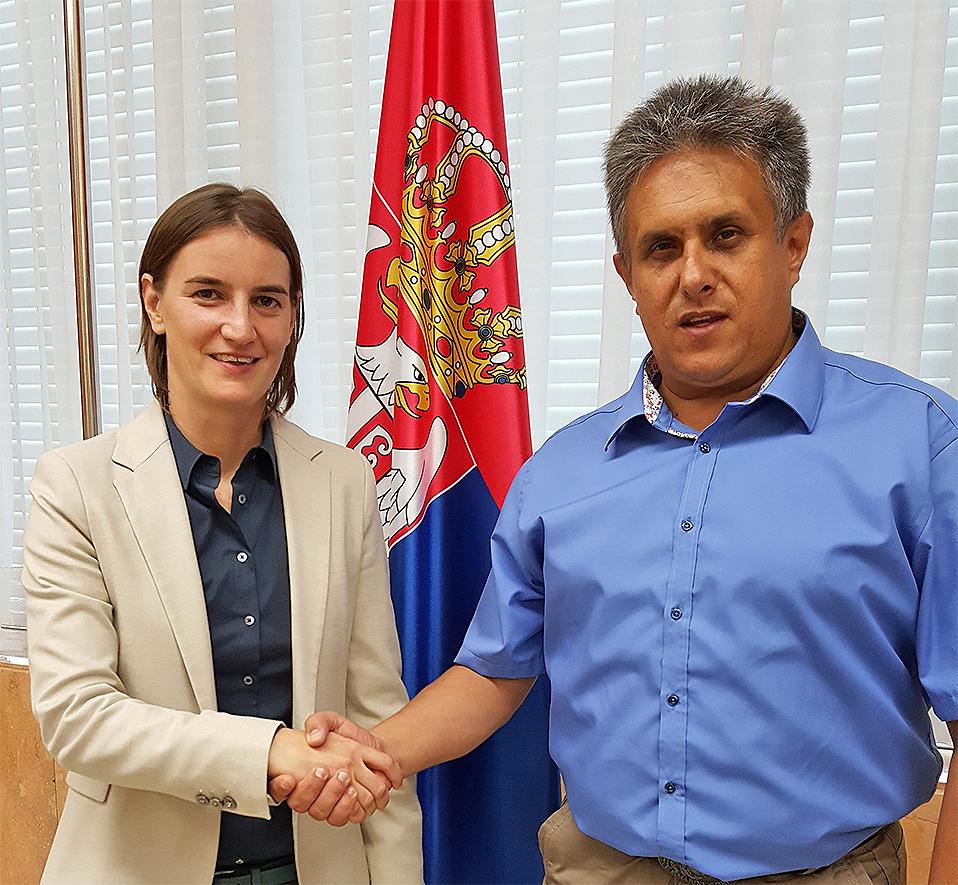 Ana Brnabić i Milija Miletić
