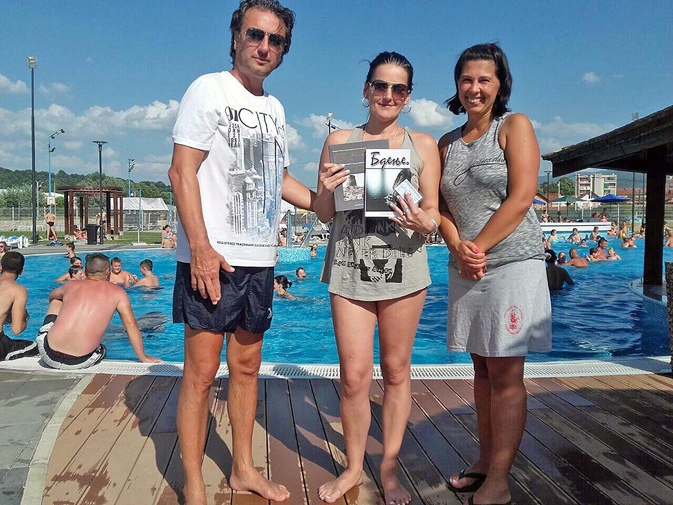 Borivoje Petković i Jelena Trifunović sa nagrađenom Jelenom