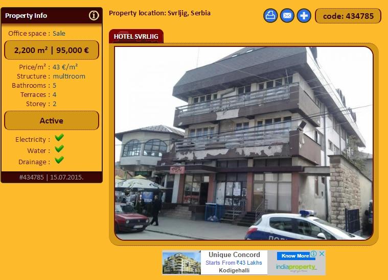 """Hotel ''Kalafat"""" i dalje na prodaju za 95.000 €"""
