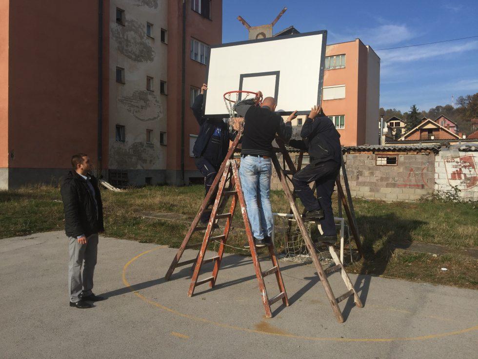 Igralište u naselju Saraj dobilo nove koševe
