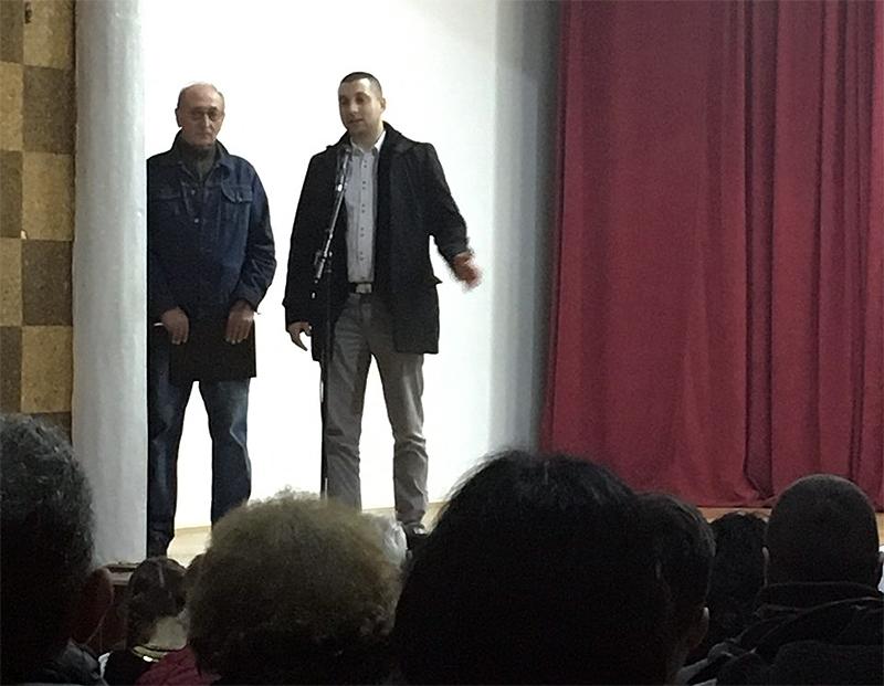Marković se obraća publici, foto: M.M. / Svrljiške novine