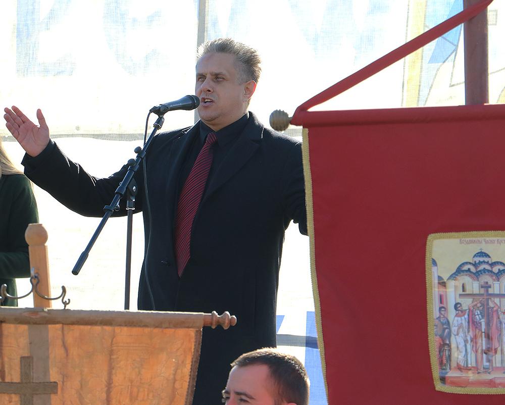 Narodni poslanik Milija Miletić u obraćanju, foto: M. Miladinović