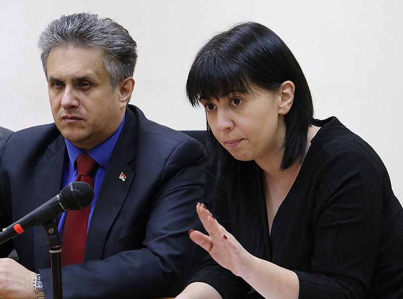 Predsednica Jelena Trifunović i narodni poslanik Milija Miletić
