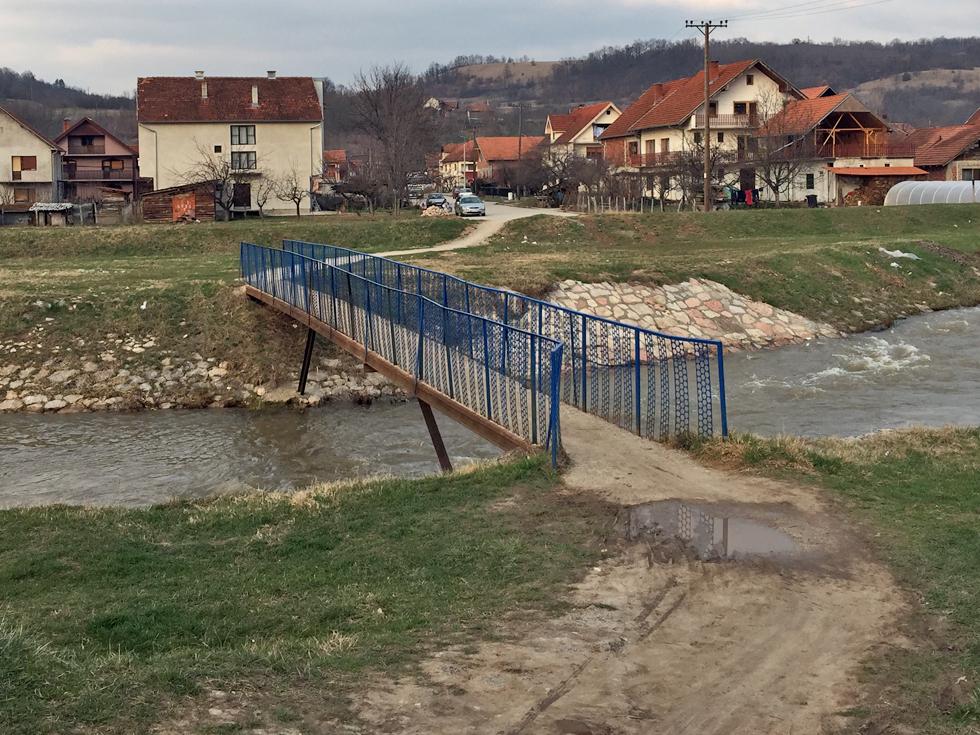 Ovo je mesto gde će biti izgrađen novi most