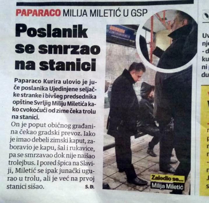 Paparaco uhvatio Miliju Miletića u Beogradu
