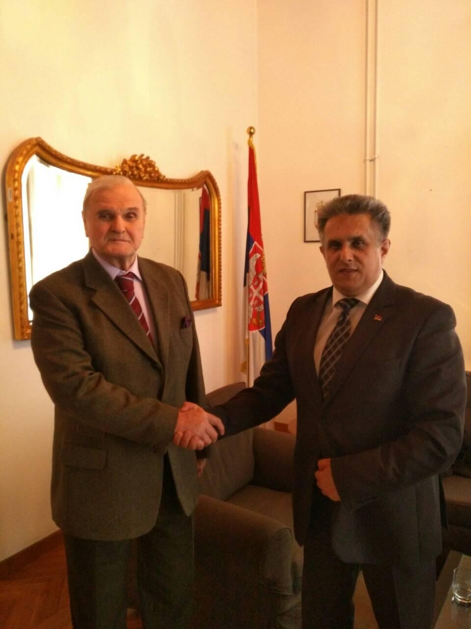 Sa ambasadorom Srbije u Rumuniji