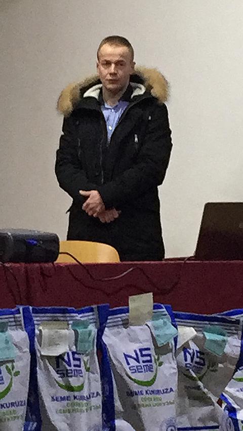Ivan Tasić iz Odseka za poljoprivredu Opštine Svrljig, foto: M. Miladinović