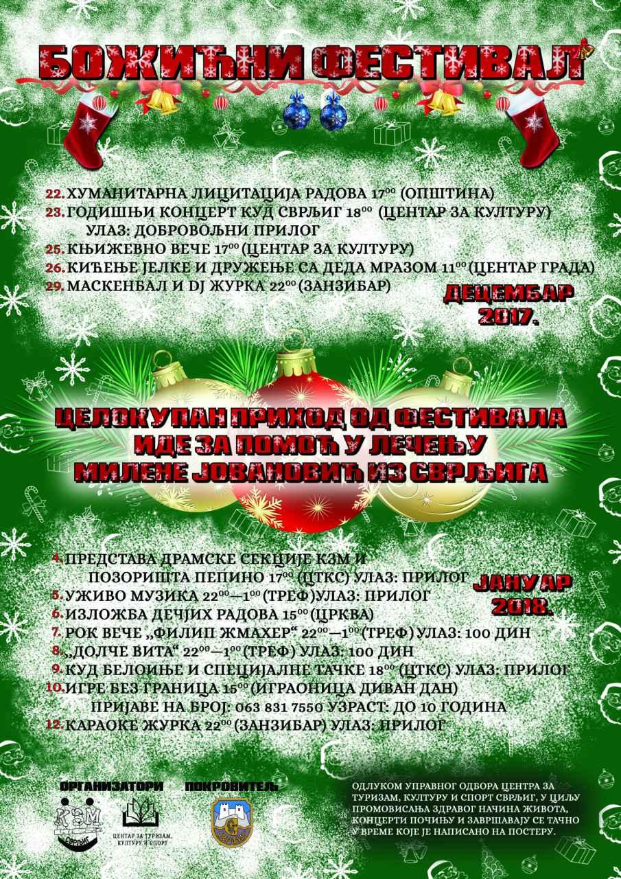 Klikni za uvećanje, program Božićnog festivala