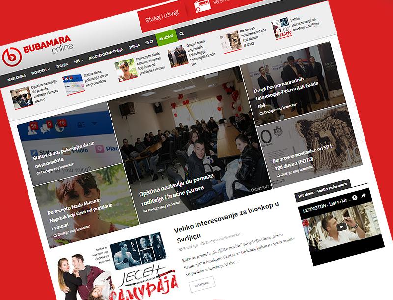 "Počeo sa radom novi informativni portal ''Bubamara Online"""