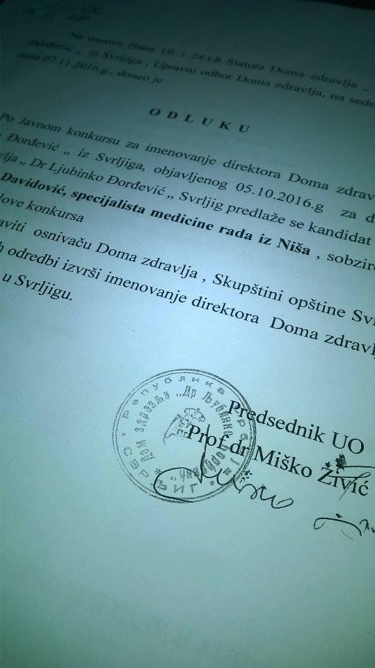 Izabran novi direktor svrljiškog Doma zdravlja