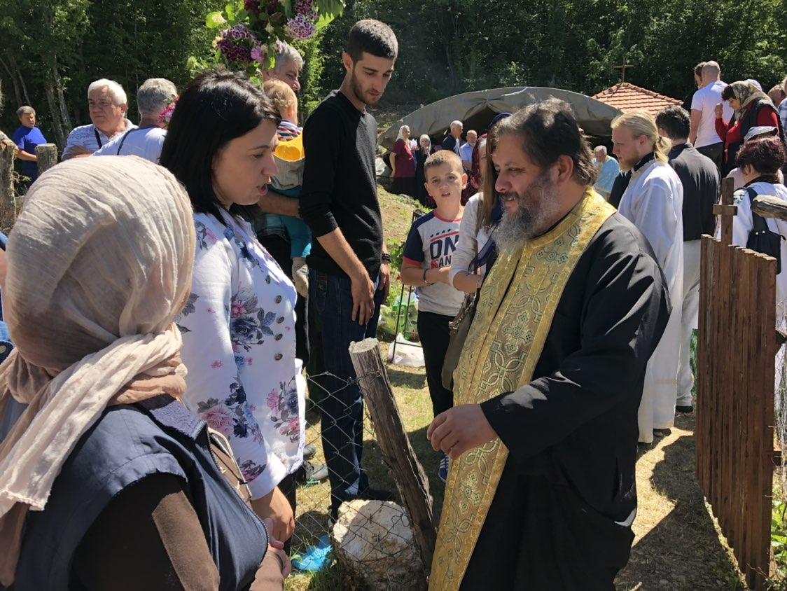 Susret Varnave Nikolića i predsednice opštine Svrljig Jelene Trifunović, foto: Redakcija