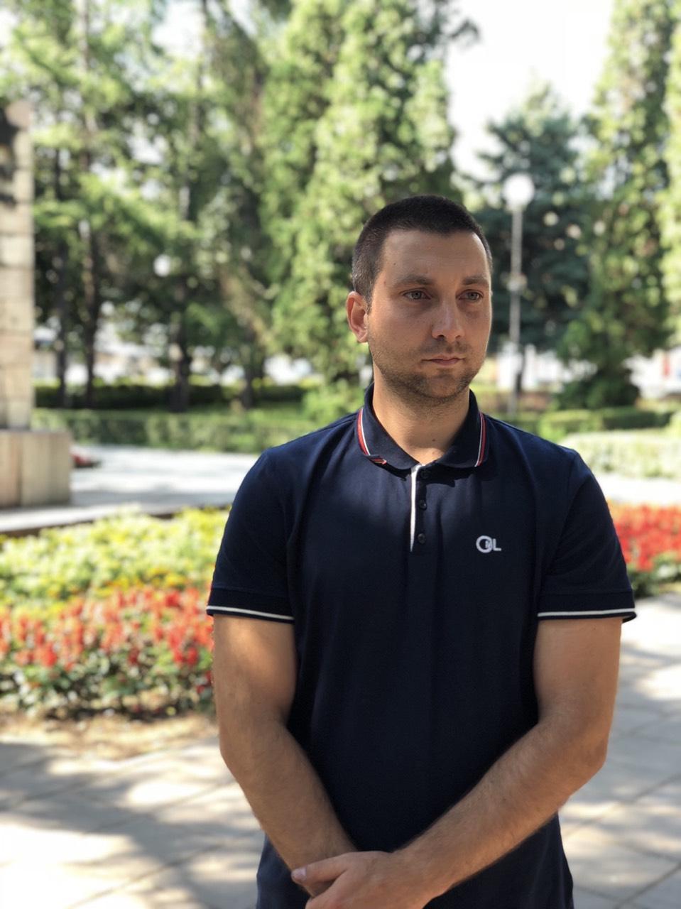 Miroslav Marković prilikom posete parku i radovima u ulici Bore Price, foto: N.S. / Svrljiške novine