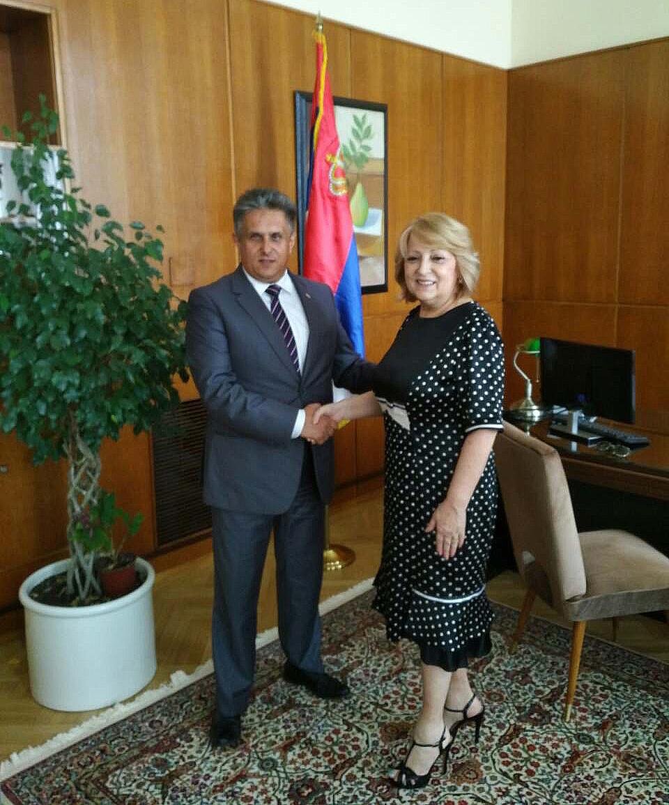 Milija Miletić u susretu sa ministarkom dr Slavicom Đukić Dejanović