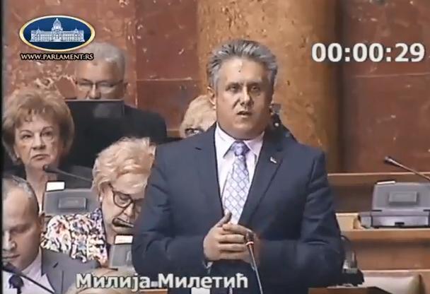 Narodni poslanik Milija Miletić, foto: Parlament.rs
