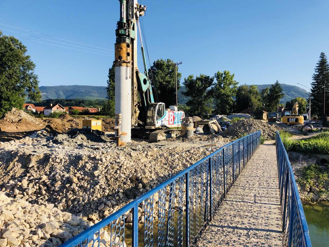 Početak izgradnje mosta na Svrljiškom Timoku, foto: M. Miladinović, Svrljiške novine