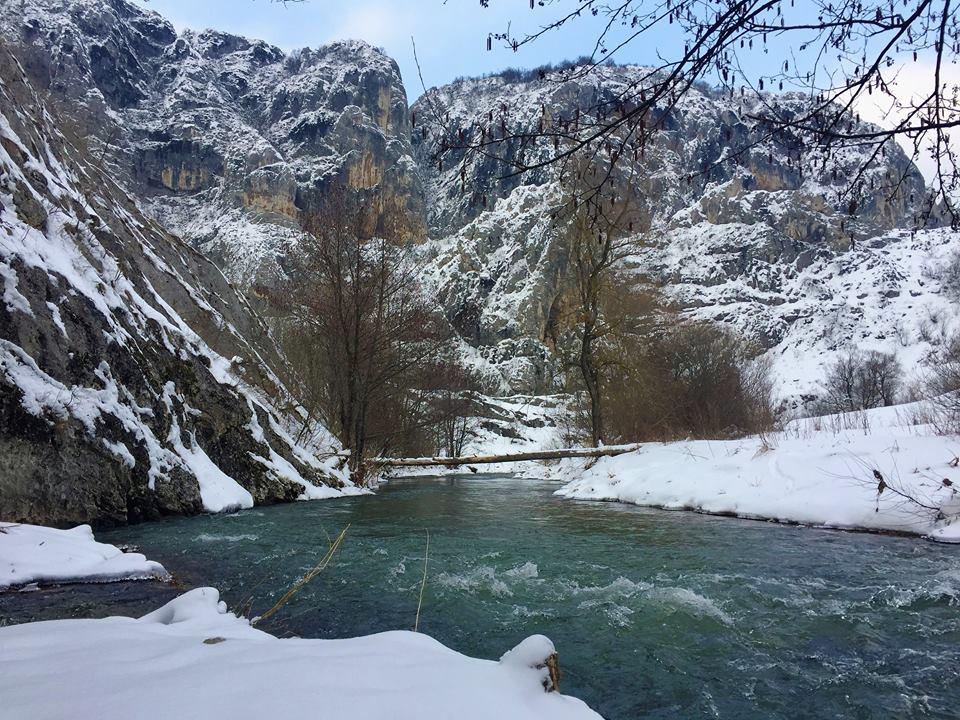 Pogled na Niševačku klisuru zimi, foto: N.R.