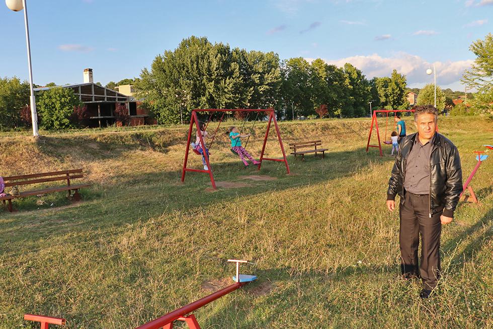 Miletić obišao dečje igralište kod gradskog stadiona