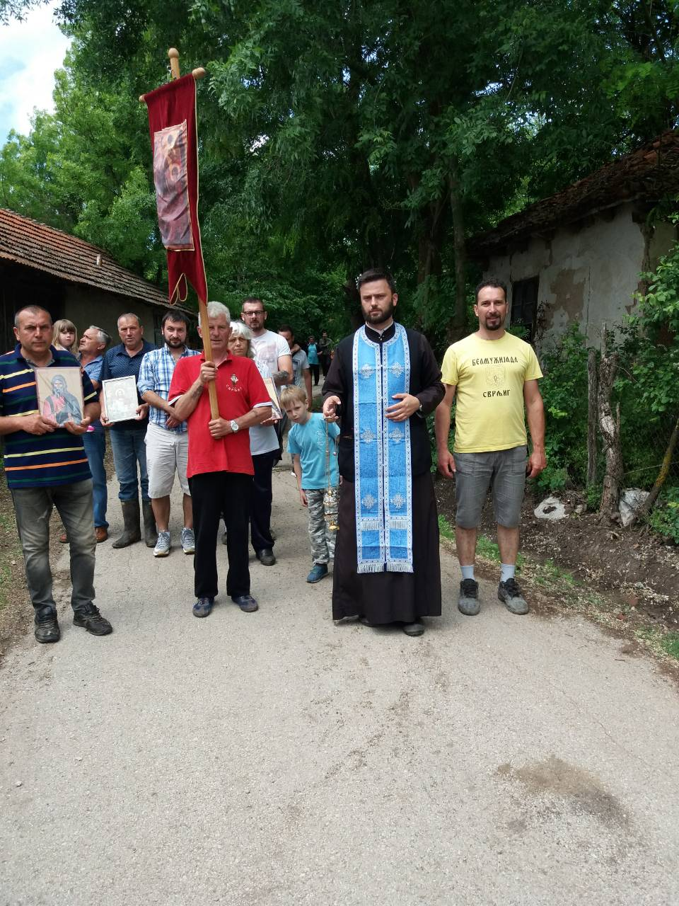 Litijom obeležena seoska slava u Plužini