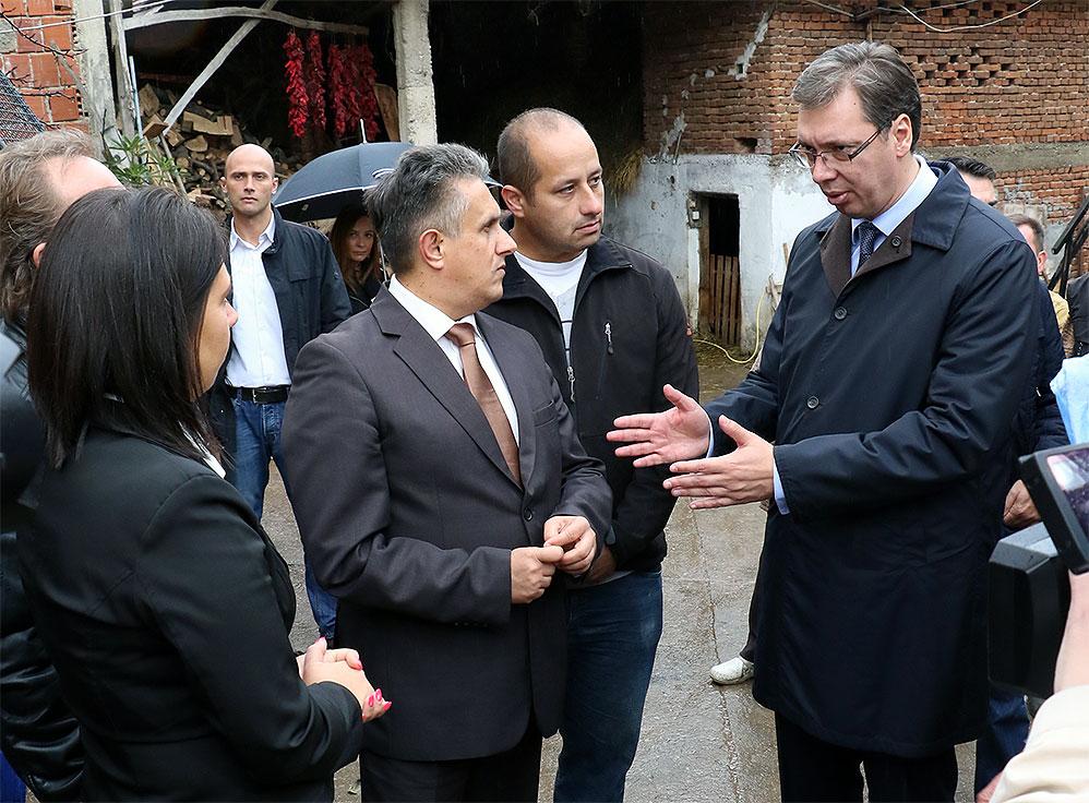 Susret Vučića i Miletića, foto: M.M.