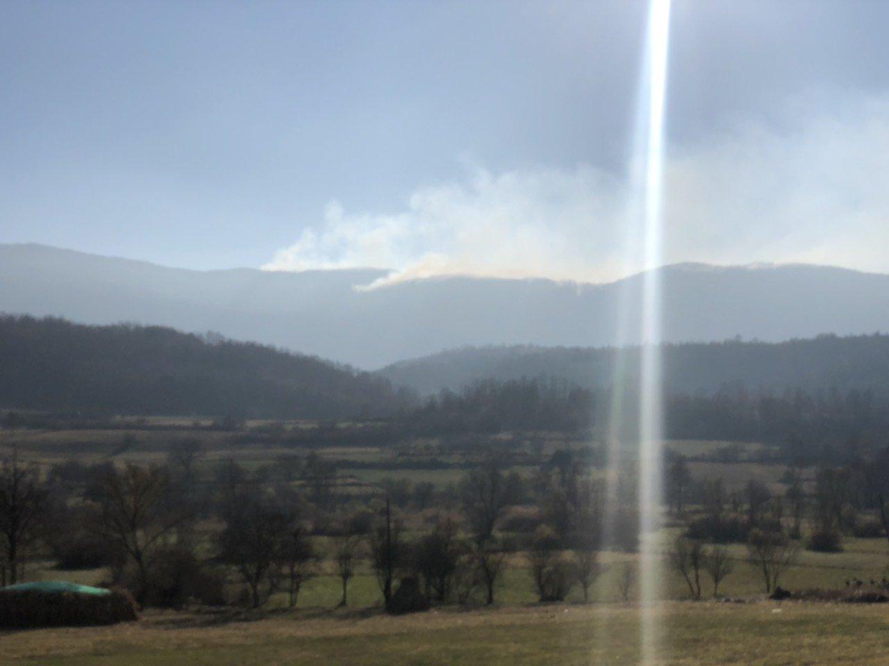 Požar koji je zahvatio Svrljiške planine, foto: M. Miladinović