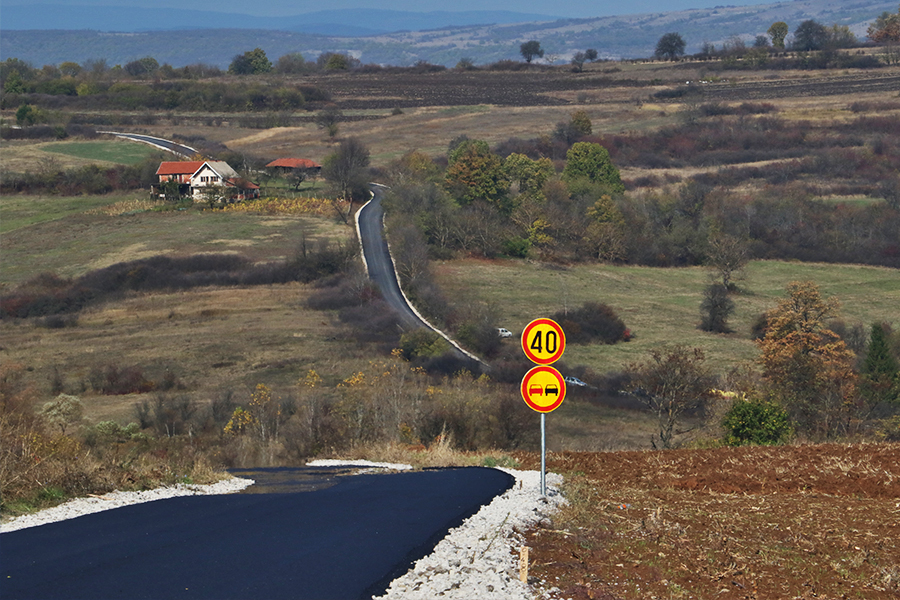 Novoizgrađena saobraćajnica do Grbavča, foto: M. Miladinović
