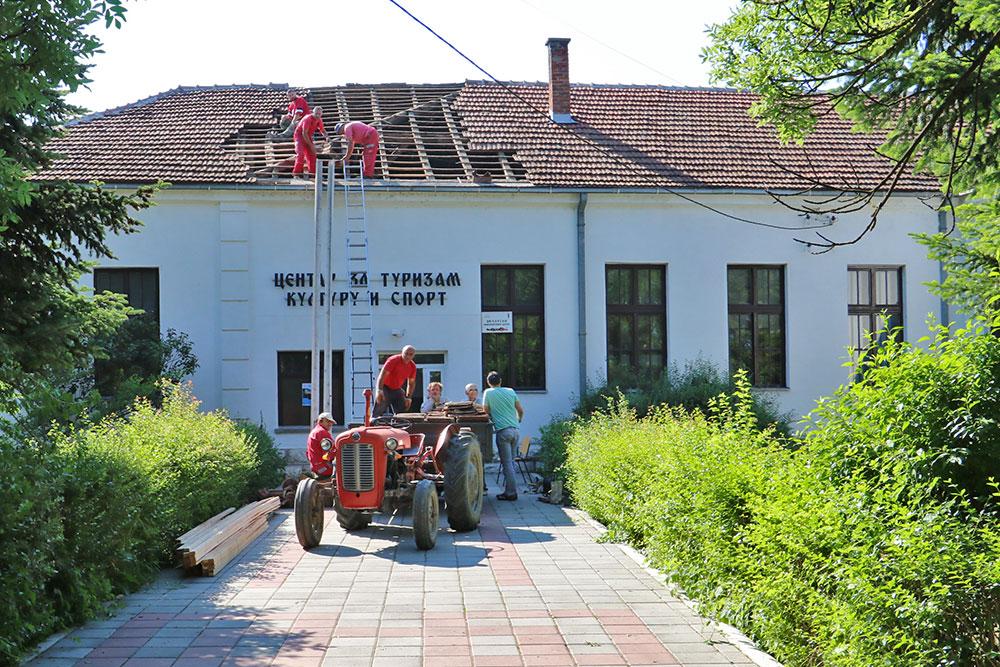 Počela rekonstrukcija krova Centra za turizam, kulturu i sport