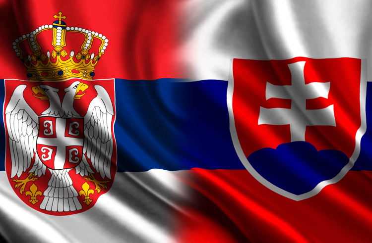 Zastave Srbije i Slovačke, foto ilustracija, portal ''Svrljiške novine''