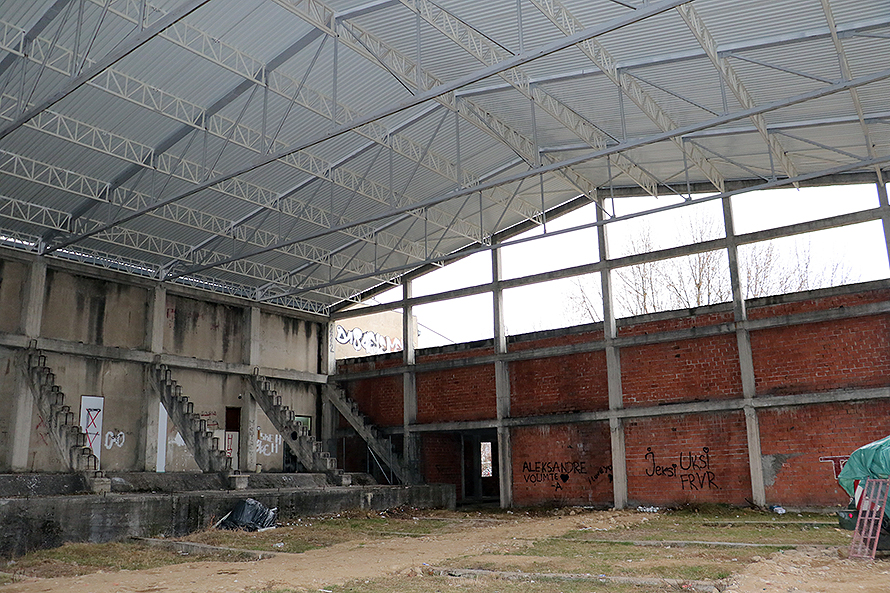 Postavljen krov na sportskoj hali