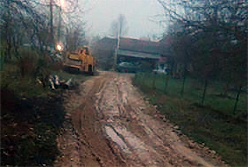 Izvorci nezadovoljni izvršenim radovima na popravci puta