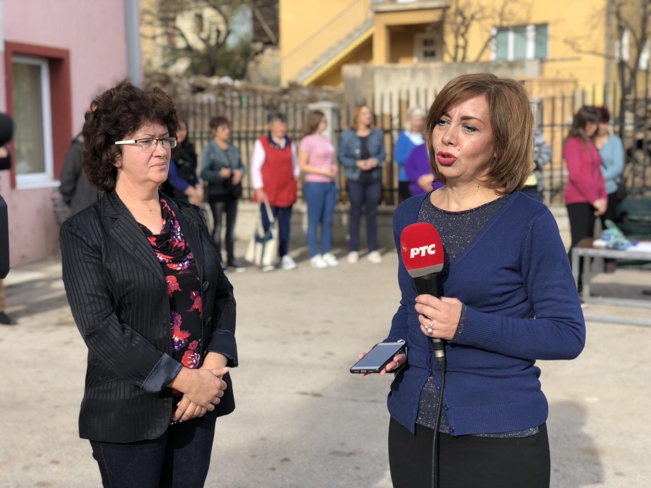 Predsednica Skupštine opštine Svrljig Tatjana Lazarević na podeli opreme za žene poljoprivrednice, foto: M. M. / Redakcija