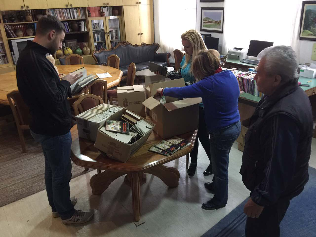"Donacija od 300 knjiga biblioteci ,,Gordana Todorović"""