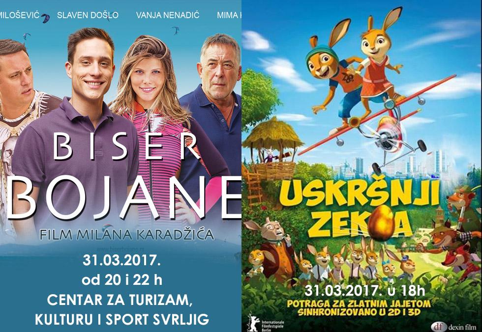 """""""Uskršnji zeka"""" i """"Biser Bojane"""" u svrljiškom bioskopu"""